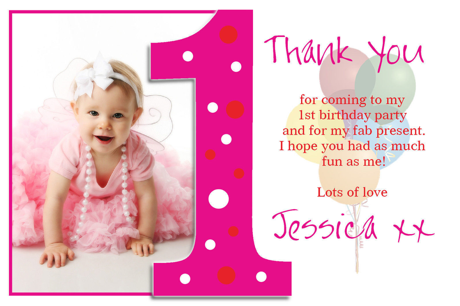 thank you message for attending 1st birthday ; Atta-Luxury-Thank-You-Birthday-Cards