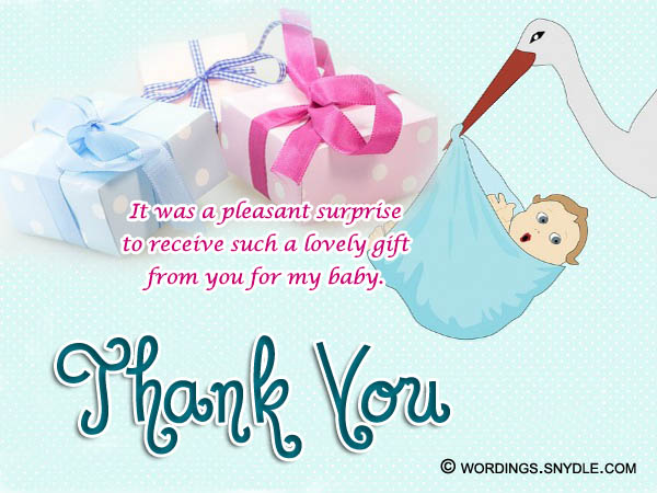 thank you message for attending 1st birthday ; baby-shower-gift-thank-you-notes