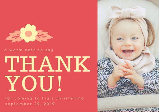 thank you message for attending 1st birthday ; canva-red-floral-christening-thank-you-card-MAB_oIx5BFI