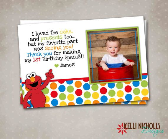 thank you message for attending 1st birthday ; e9cb570ed5a24eaf7cc8c0487afeaedc--elmo-birthday-card-birthday