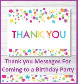 thank you message for attending 1st birthday ; images
