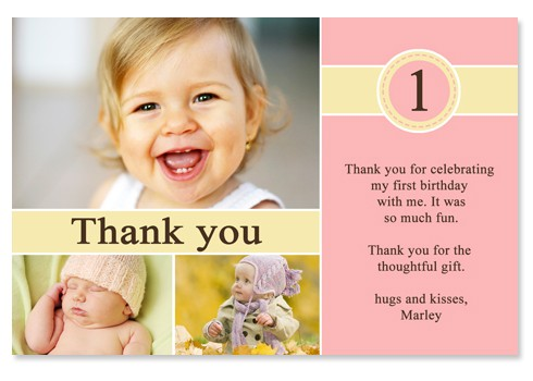 thank you message for attending 1st birthday ; stunning-elegant-1st-birthday-thank-you-cards-design-beautiful-collection-pink-background-shocking-ideas-beautiful-girl-marley-hugs-and-kisses