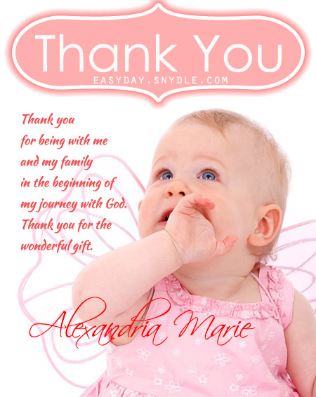 thank you message for attending 1st birthday ; thank-you-messages-baptism