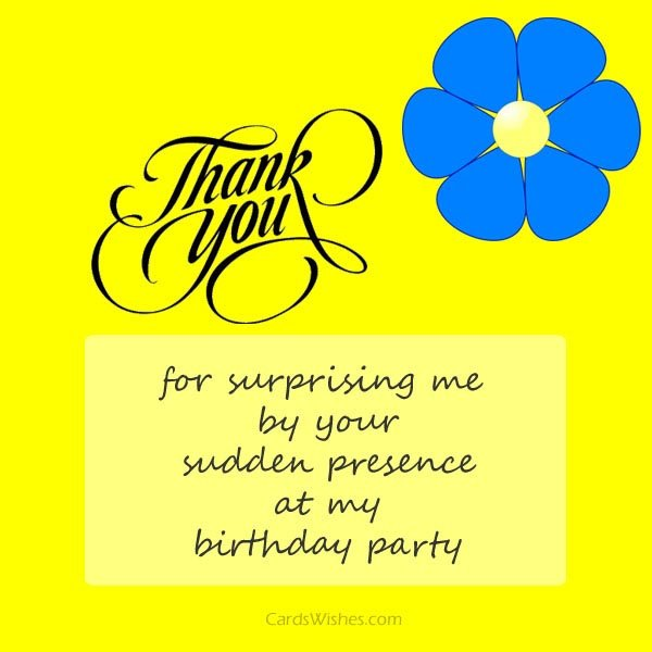 thank you message for attending 1st birthday ; thankyou-for-surprising-me