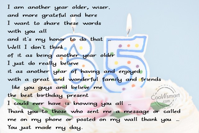 thank you message for birthday celebrant ; beautiful-lines-of-65th-happy-birthday