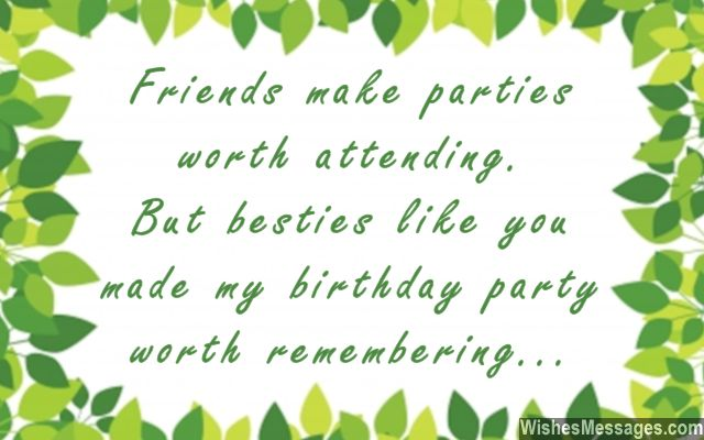 thank you message to friends for surprise birthday party ; Thank-you-for-coming-to-my-birthday-party-greeting-card-quote