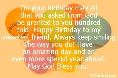 the sweetest birthday message ; sweetest-birthday-wishes-for-friend-e-card