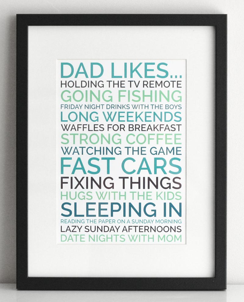 things to draw for your dad's birthday ; dad-likes-personalised-poster-black-front-800x988