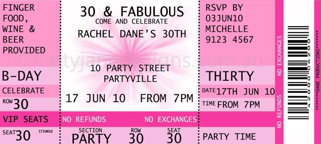 ticket birthday invitation template ; 2293ab8e635fae8a5eccfd55ddba3b0b