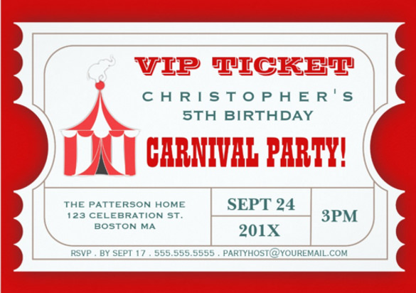 ticket birthday invitation template ; Circus-Carnival-Birthday-Party-Ticket-Invitation1