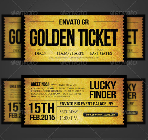 ticket birthday invitation template ; Golden-Silver-Ticket-Corporate-Invitation