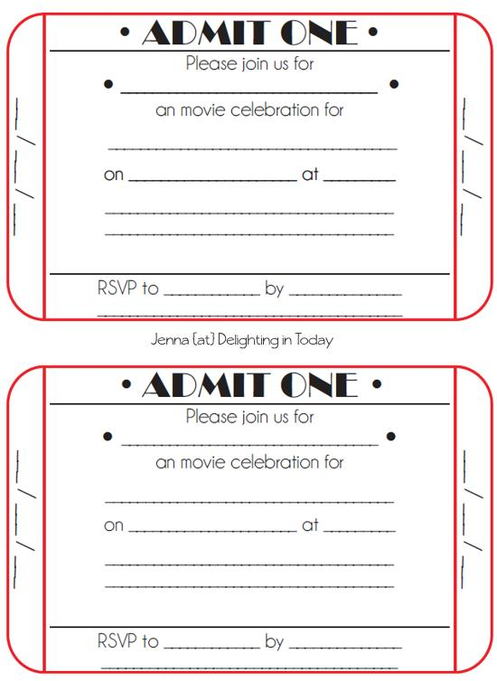 ticket birthday invitation template ; c95dd75bc6daba15f54a44e3b15ab57c
