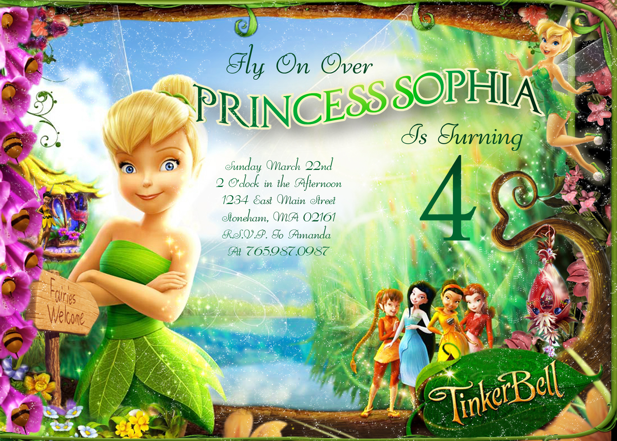 tinkerbell birthday invitation ideas ; tinkerbell-birthday-invitations-using-an-excellent-design-idea-aimed-to-prettify-your-Birthday-Invitation-Templates-5