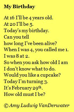 today is my birthday poem ; 36a6825069bff4510ddf2624493f3857