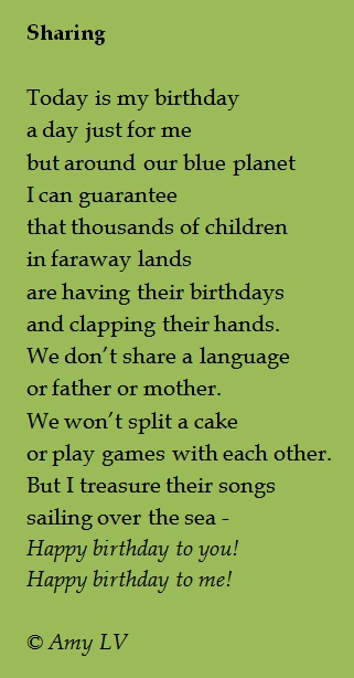 today is my birthday poem ; Sharing