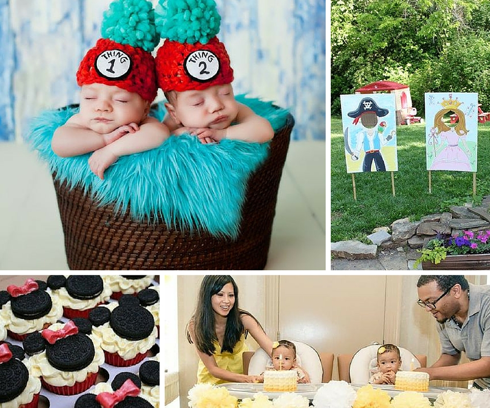 twins first birthday picture ideas ; Twin-Party-Themes