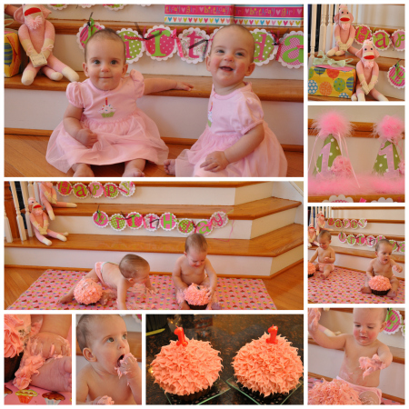 twins first birthday picture ideas ; twins-first-cupcake-birthday