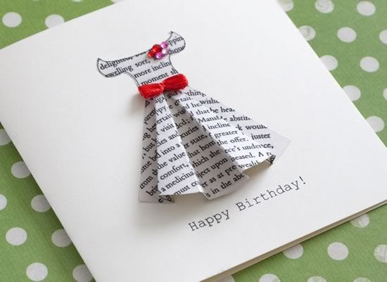 unique birthday cards ; how-to-make-beautiful-greeting-cards-at-home-25-unique-dress-card-ideas-on-pinterest-cards-diy-origami