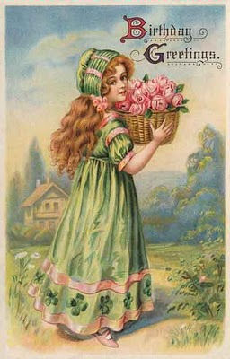 victorian birthday card images ; girlvintage