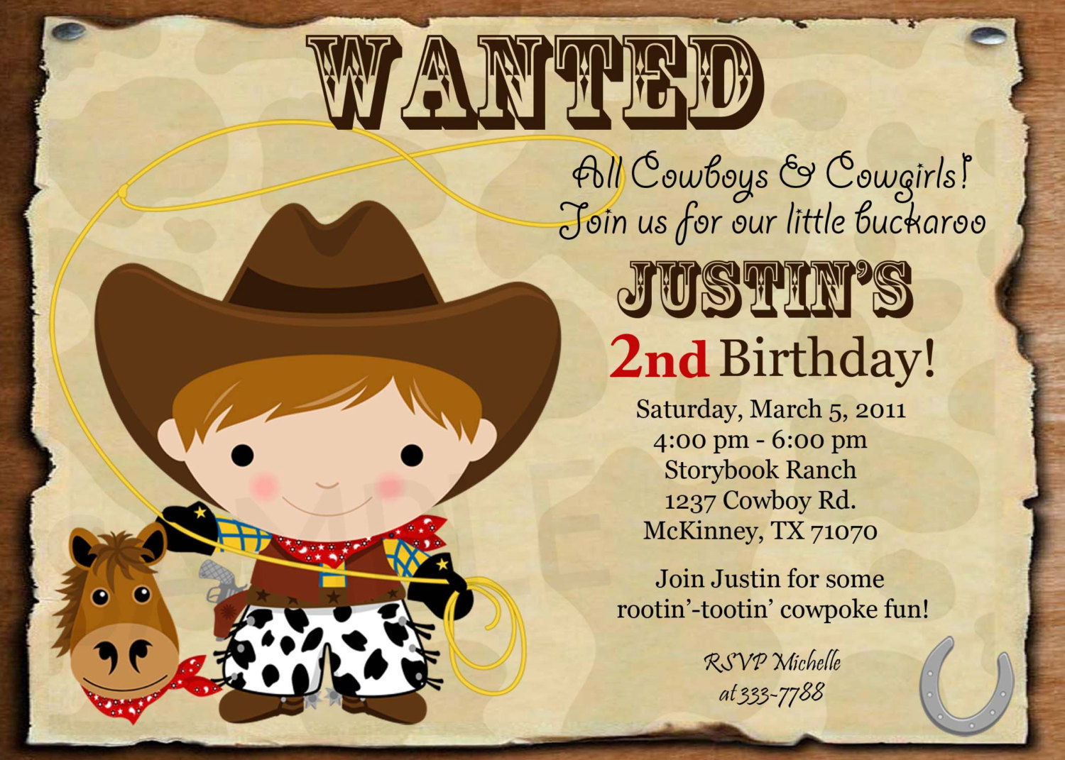 Western Birthday Invitation Wording Cowboy Invitations With Picture
