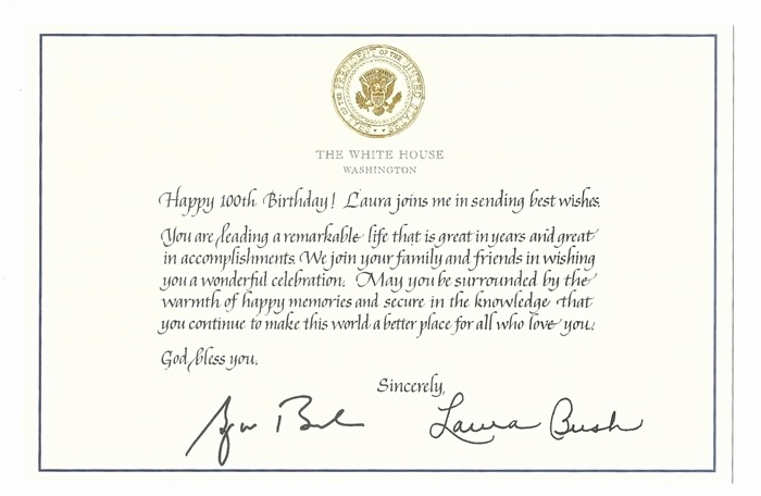 white house 100th birthday card ; birthday-card-from-president-elegant-paper-items-of-birthday-card-from-president