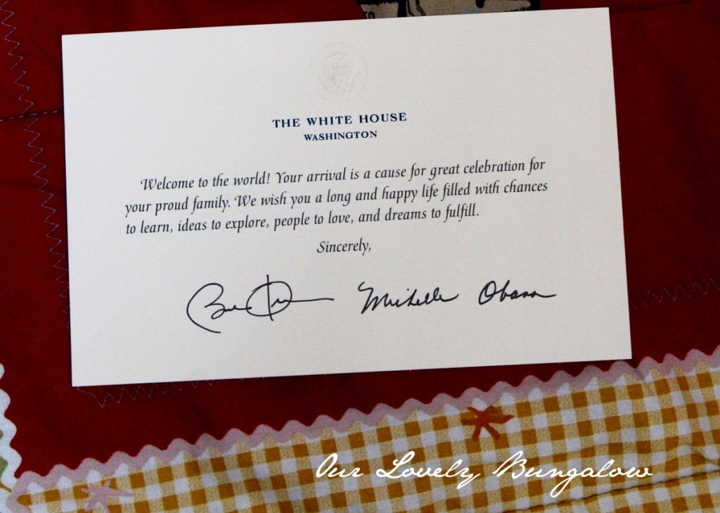 white house 100th birthday card ; letter-from-the-president-1