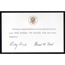 white house 100th birthday card ; presidents-collectibles494
