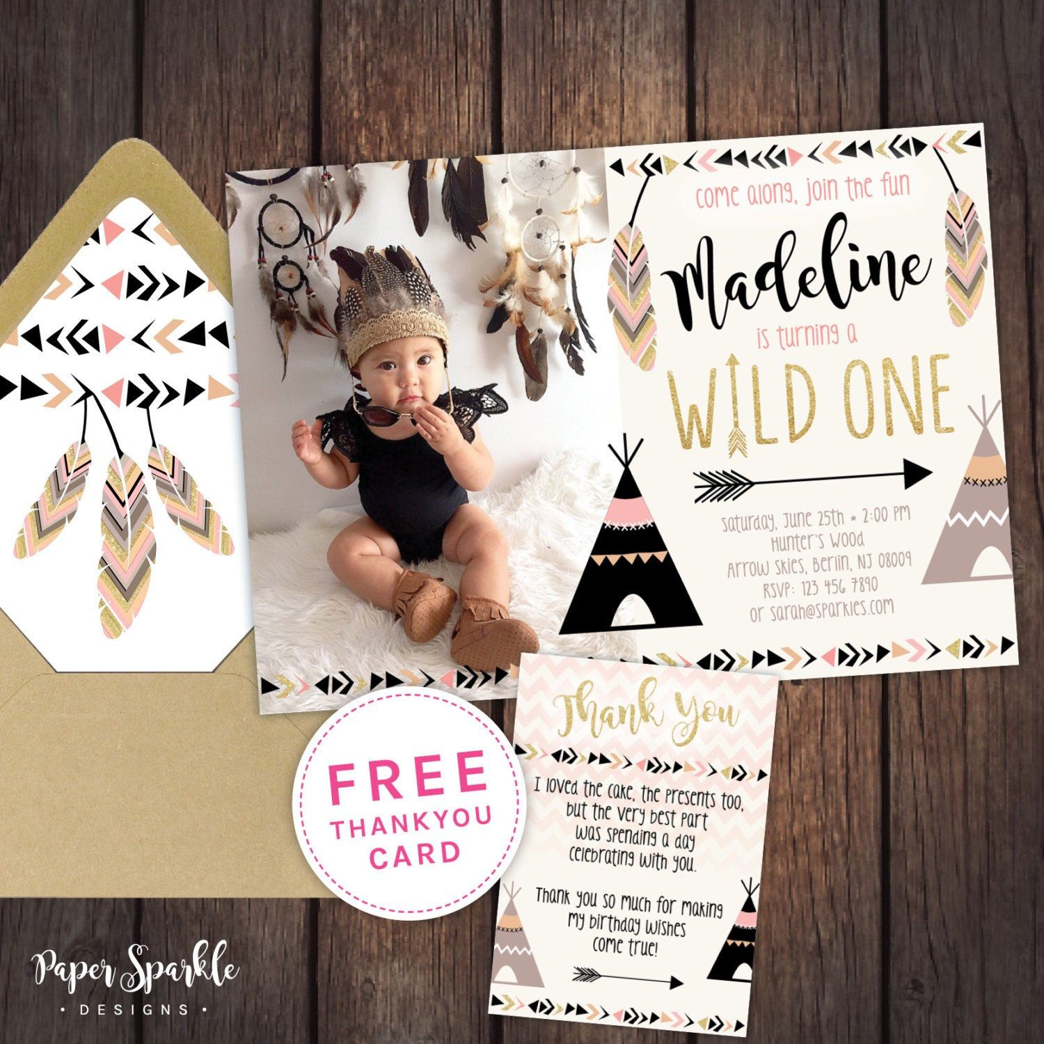 wild one birthday invitation template ; 12f6700880a65766885a4a1d079a5667