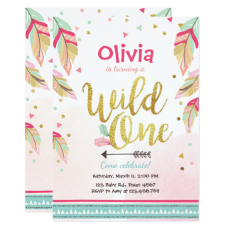 wild one birthday invitation template ; wild-one-birthday-invitation-first-birthday-girl_wild-one-invitations-announcements-on-giraffe-birthday-invitation-firs