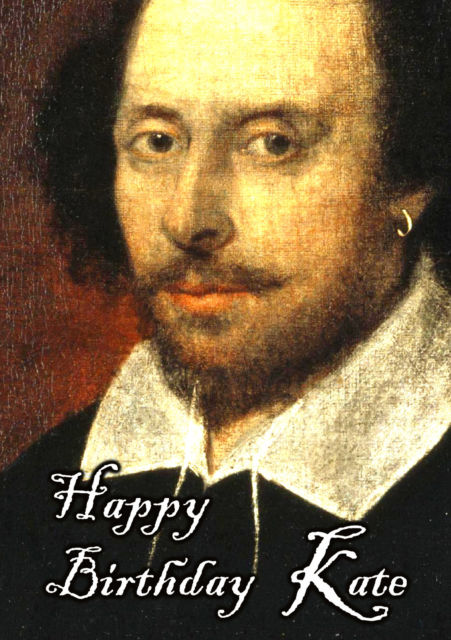 william shakespeare birthday card ; s-l640