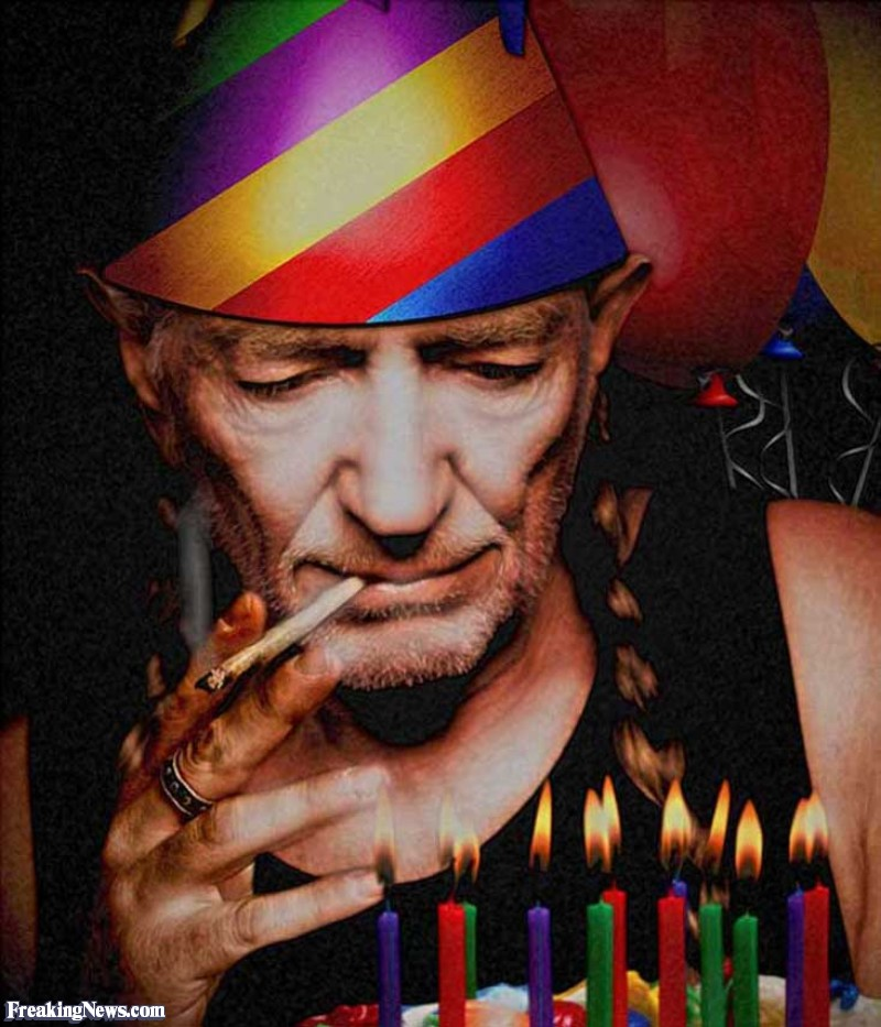 willie nelson birthday card ; Willie-Nelson-Smoking-Pot-on-His-Birthday--108397