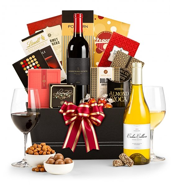wine basket birthday gift ; 6933ai_The-Royal-Treatment-Wine-Gift-Basket