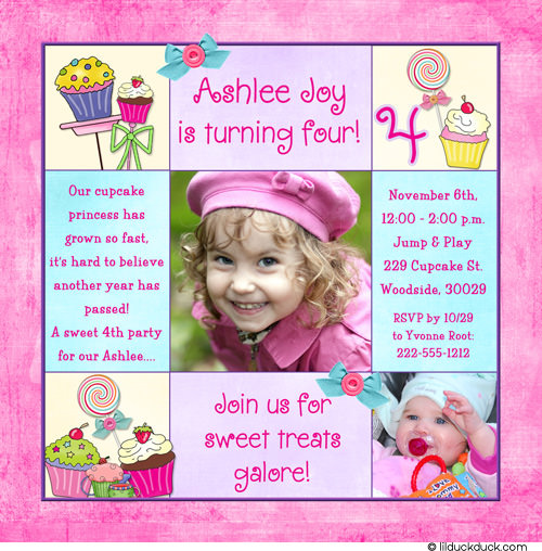 Fourth Of July Invitation Printable 4th Birthday Party Wording For Girl