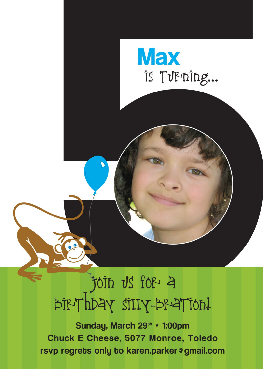 Wording For A 5 Year Old Birthday Party Invitation 5th