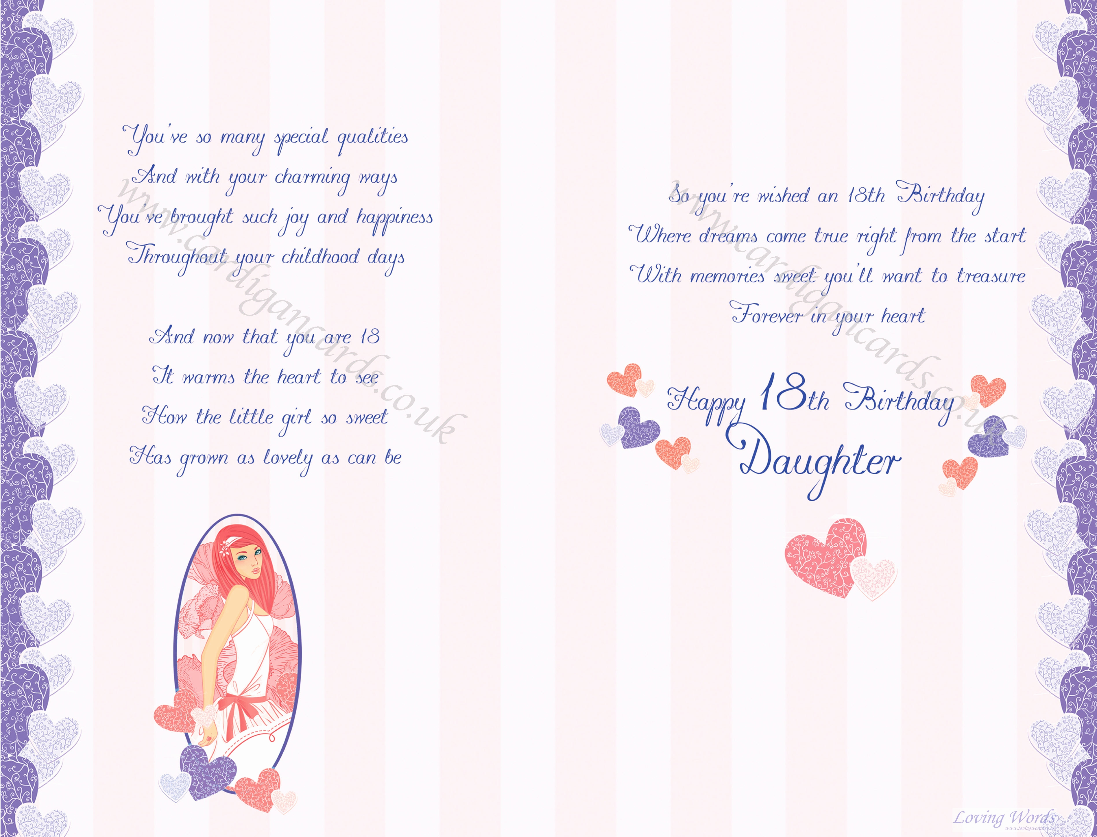 words for 18th birthday card ; birthday-card-words-for-daughter-elegant-wonderful-daughter-18th-birthday-of-birthday-card-words-for-daughter
