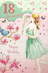 words for 18th birthday card ; s-l300