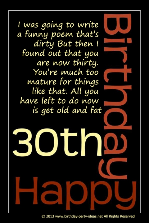 words for a 30th birthday card ; cc69dfbcd5b92b6c0a3d07187fc1207c