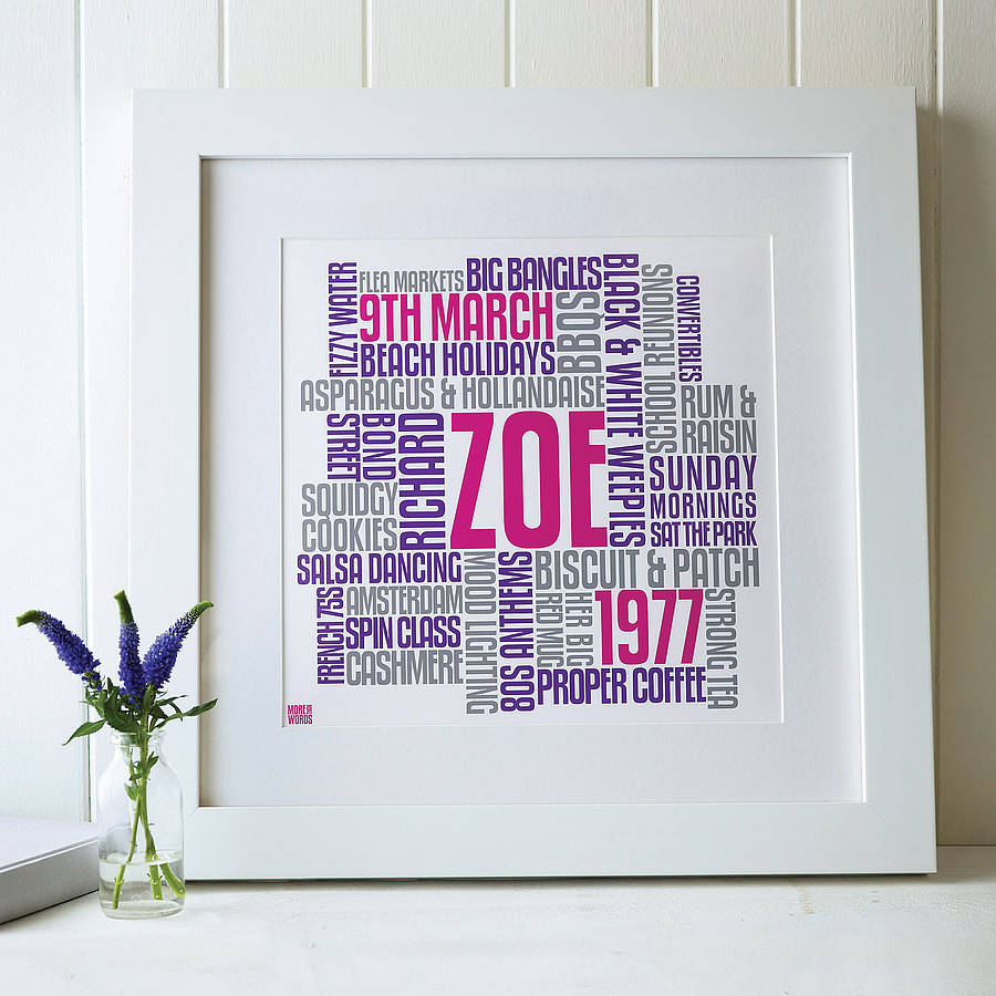 words for a 30th birthday card ; original_personalised-birthday-typographic-art