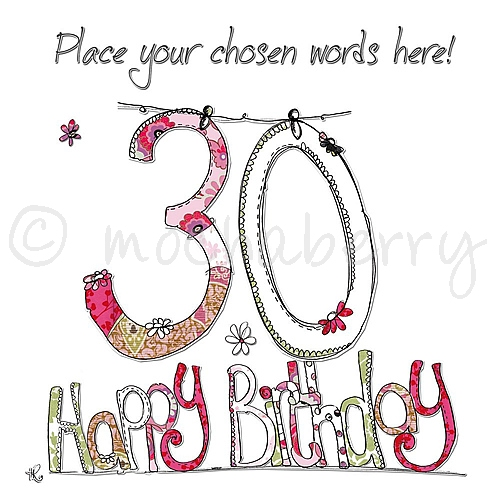 words for a 30th birthday card ; personalised-30th-happy-birthday-card-pc19-select-size-large-size-card-l-220-x-220mm-1594-p