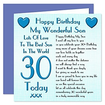 words for a 30th birthday card ; words-for-30th-birthday-card-awesome-son-30th-happy-birthday-card-lots-love-to-the-best-son-in-the-of-words-for-30th-birthday-card