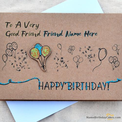 write best friends birthday card ; large