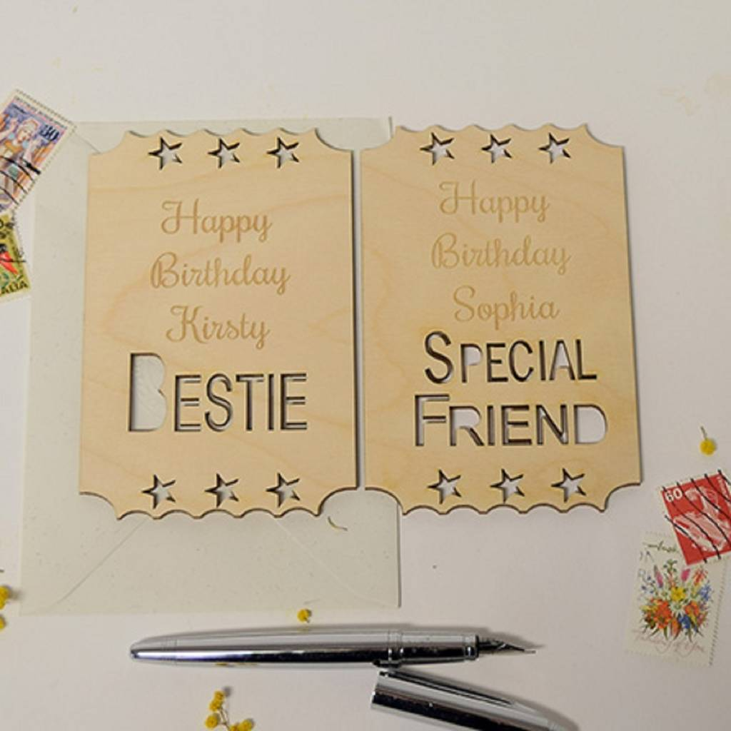 write best friends birthday card ; original_personalised-best-friend-birthday-ticket-keepsake