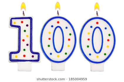 100th birthday clipart ; birthday-candles-number-one-hundred-260nw-185004959