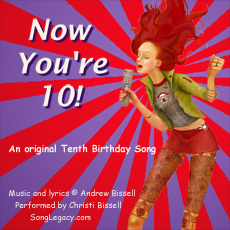 10th birthday card messages ; 10thBirthdaySongCDCover230