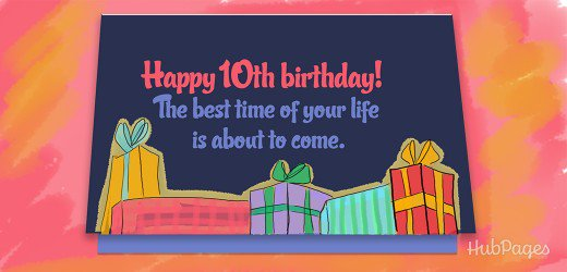 10th birthday card messages ; 11740297_f520