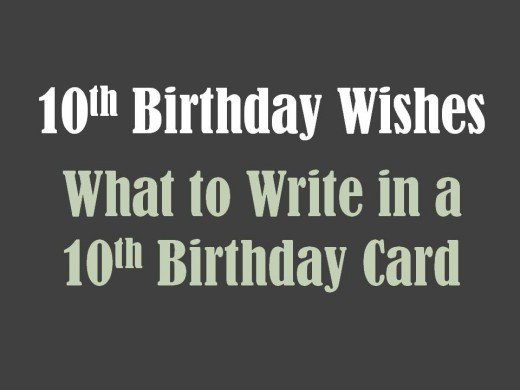 10th birthday card messages ; 8689189_f520