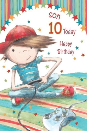 10th birthday card messages ; Nice-10th-Birthday-Wishes-For-Son-E-Card-361x540