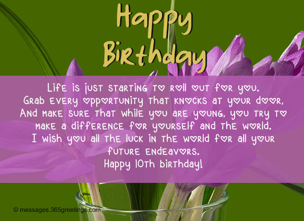 10th birthday card messages ; best-birthday-wishes-11