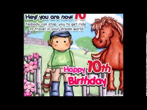 10th birthday card messages ; hqdefault