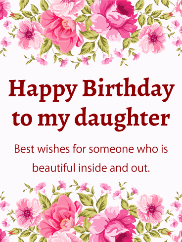 10th birthday message for daughter ; 10th-birthday-wishes-for-daughter-lovely-pink-flower-happy-birthday-card-for-daughter-this-feminine-of-10th-birthday-wishes-for-daughter